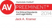 AV rating Indiana attorney Jack A Kramer